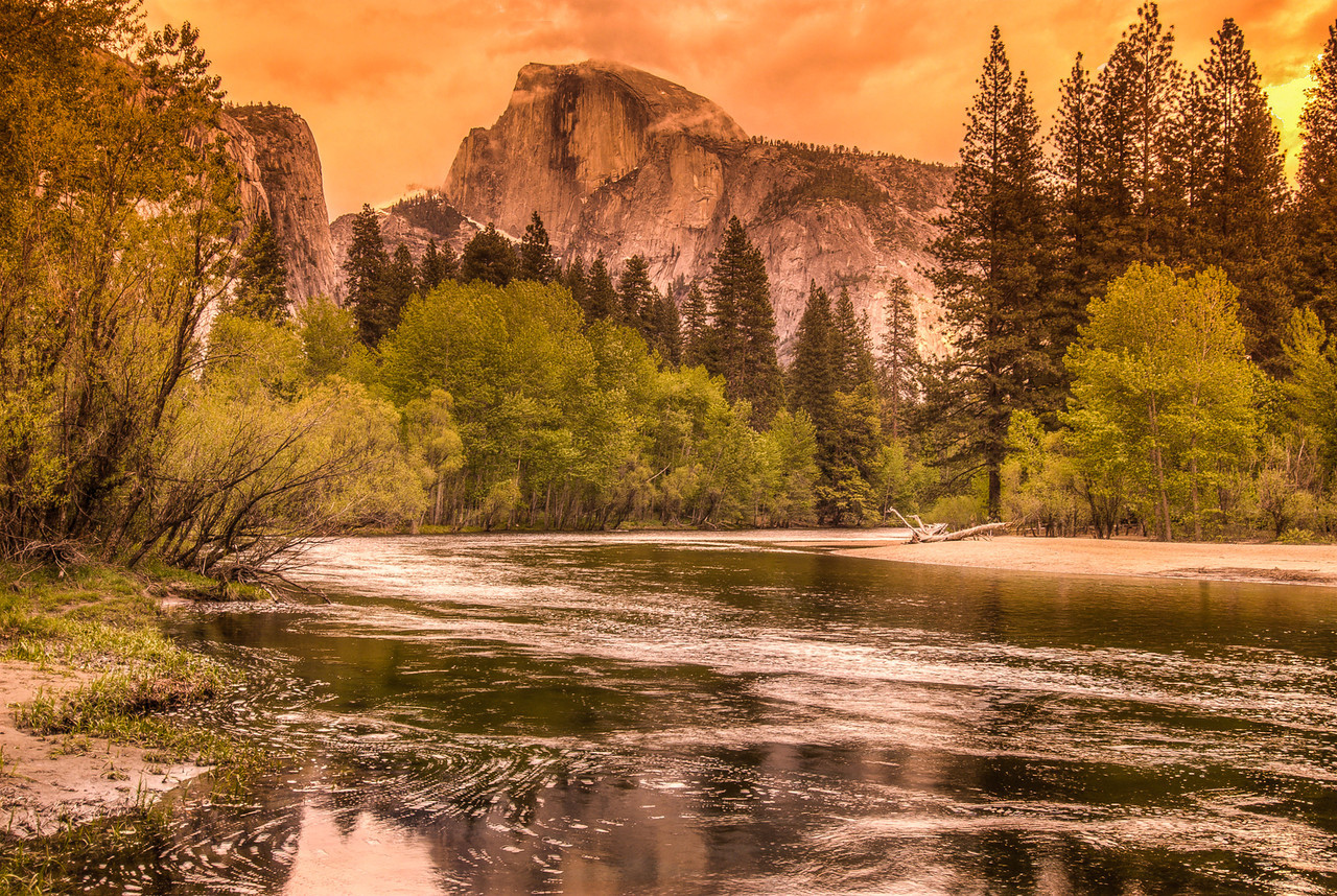 Half Dome from Merced River