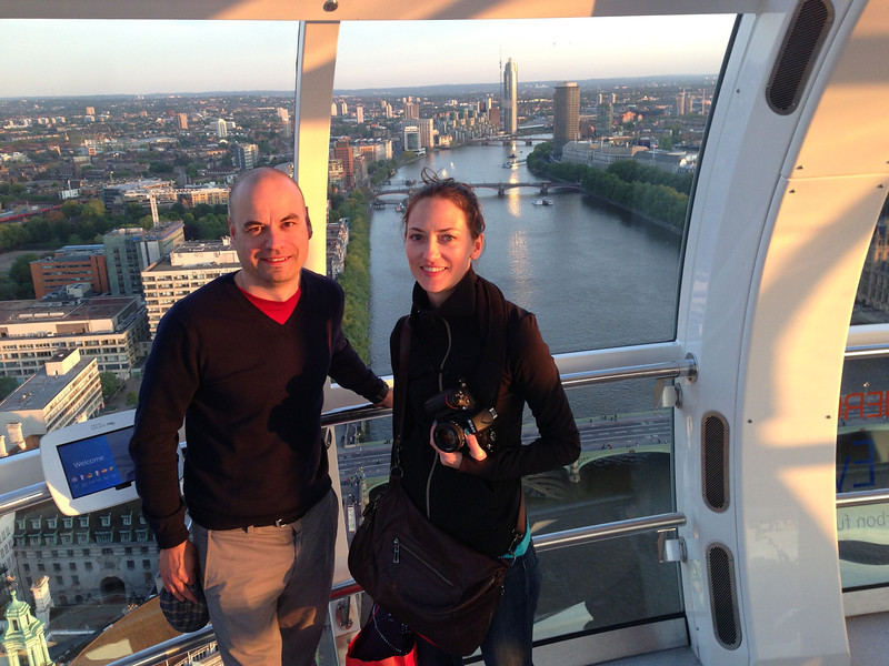 On London eye.