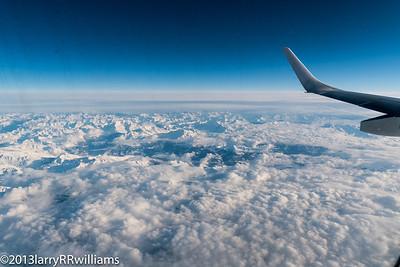 Flight over the Alps 2013