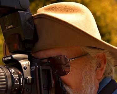 Shooting at Quail Botanical gardens, Encinitas, Ca.  Photo by Patsy Latscha.