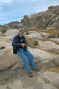 Checking my settings...  Joshua Tree.  photo by Dave Goodwin.