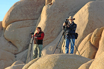 Diane Munson and me at Joshua Tree National Park.  Photo by Dave goodwin.