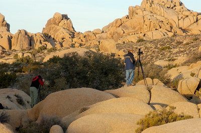 Diane Munson and me at Joshua Tree National Park . Photography by Alan Haynes.
