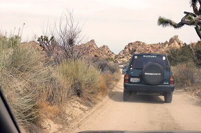 """Freddy"" (my 4WD), Joshua Tree National Park. Photography by Alan Haynes."