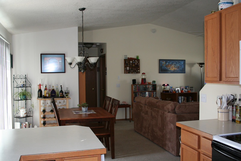 View of Dinning Room/Living Room from Kitchen