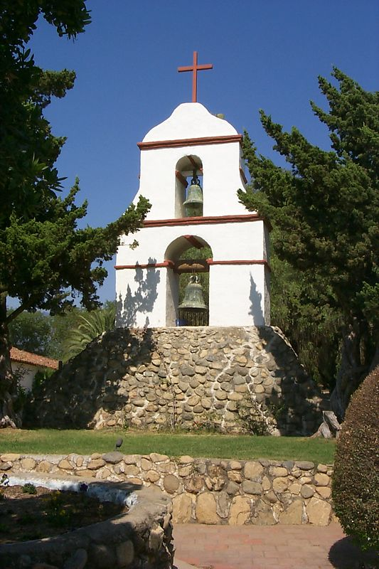 Campanil of Mission San Antonio de Pala, California