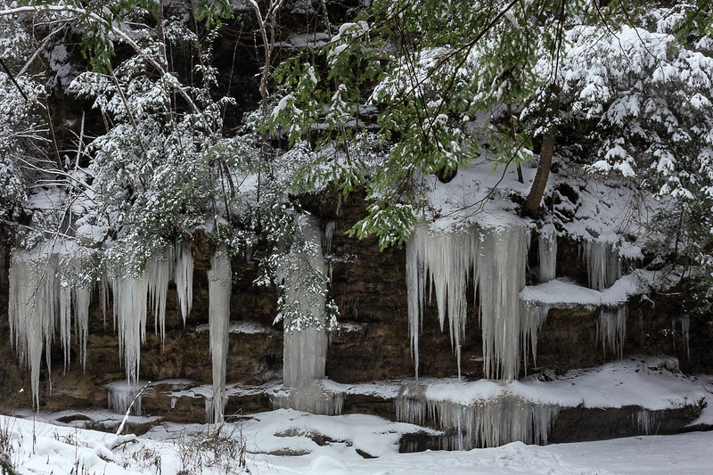 Natural Ice Formation -Hocking Hills State Park-Ohio