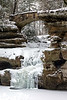 Frozen Upper Falls - Old Man's Cave  - Hocking Hills State Park-Ohio