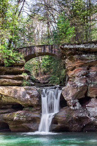 Upper Falls - Old Man's Cave - Hocking Hills State Park-Ohio