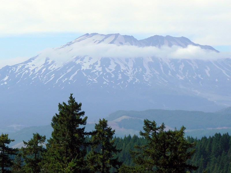 East facing side of Mt. St. Helens from the Windy Ridge Observatory.