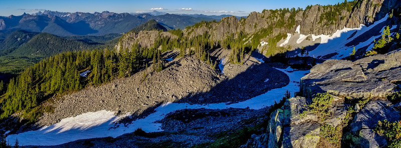 Pano of the talus field below Silver