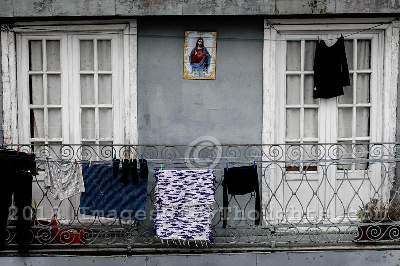 A street scene in the city of Porto.
