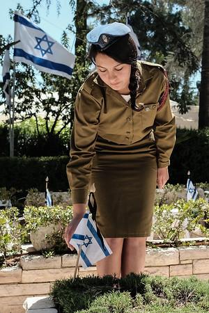 Memorial Day Preparations in Jerusalem, Israel