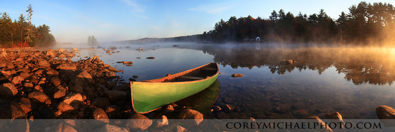 A perfect morning for a fall canoe trip