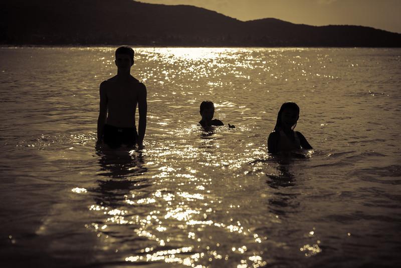 Ocean play at sunset... Culebra, Puerto Rico