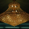"""The """"Grand Buffet"""" is a new Chinese restaurant in Deer Park. The interior furnishings and decorations are outstanding. Here is a chandelier above the buffet stations."""