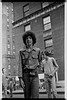 "NYC K0011  SOUL ARTISTS founder and ""Executive Director"" Marc ""ALI"" Edmonds on West End Avenue around 104th, mid-'70s."