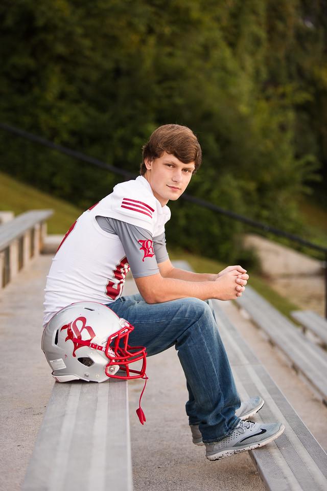 Chattanooga boy senior poses football
