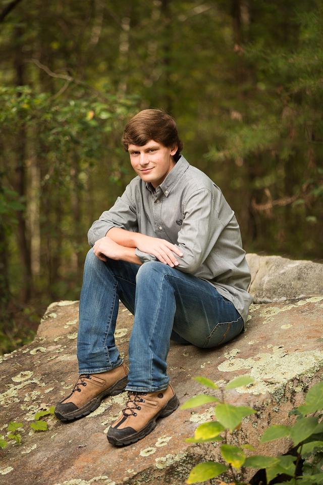 Chattanooga Senior Portraits - boy posing wilderness