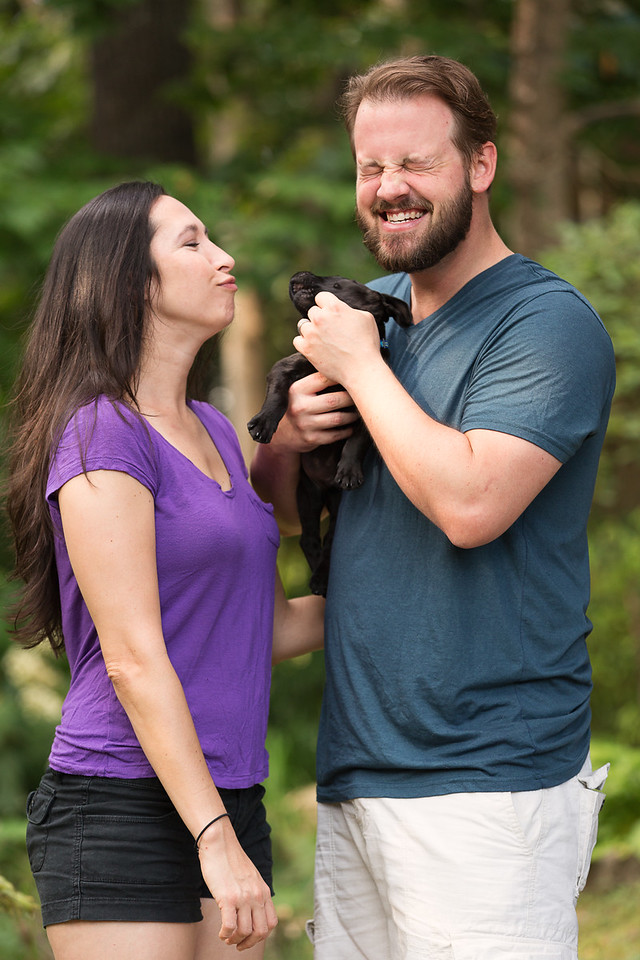 Chattanooga Photography couple with puppy