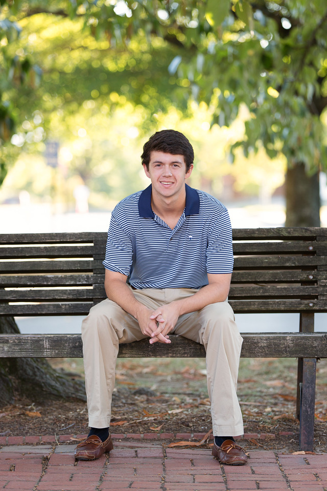 Baylor Senior Portraits Chattanooga Boy senior poses