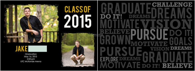 Soddy Daisy Senior Announcements | Pamela Greer Photography