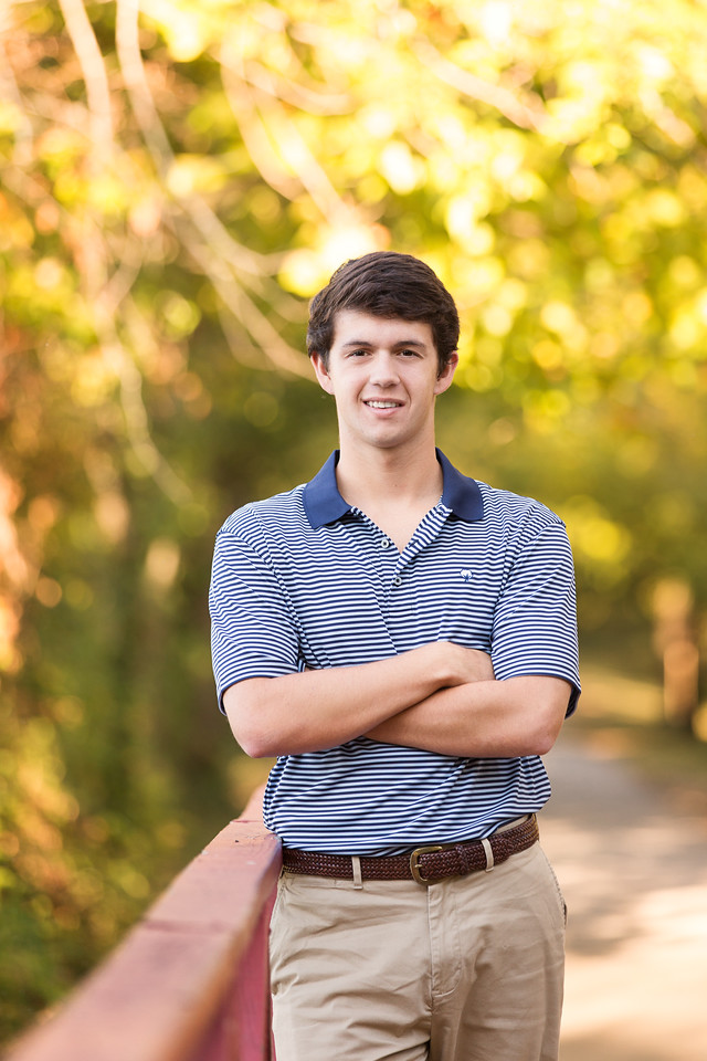 Senior boy poses Baylor School Senior Chattanooga