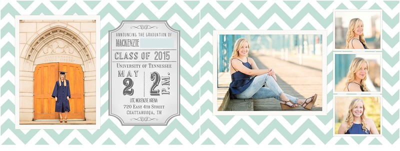 UTC Senior Announcements | Pamela Greer Photography