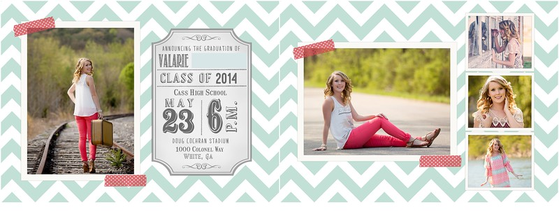 Cass High School Senior Announcements | Pamela Greer Photography