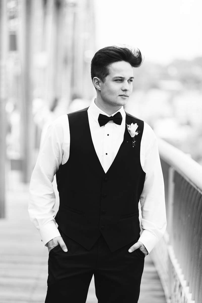 Soddy Daisy Prom Photos Chattanooga boy in black and white