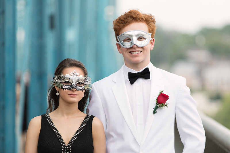 Chattanooga Prom Couple in Masks