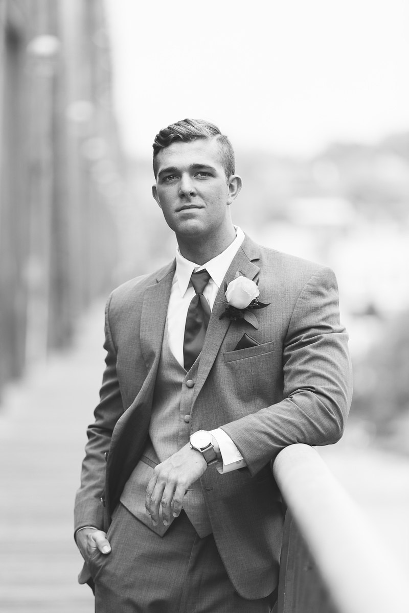 Ringgold Senior Prom boy in black and white by Pamela Greer Photography