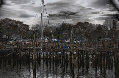 Day 351.  This is the dock in Keyport.  I tweaked it a bit.