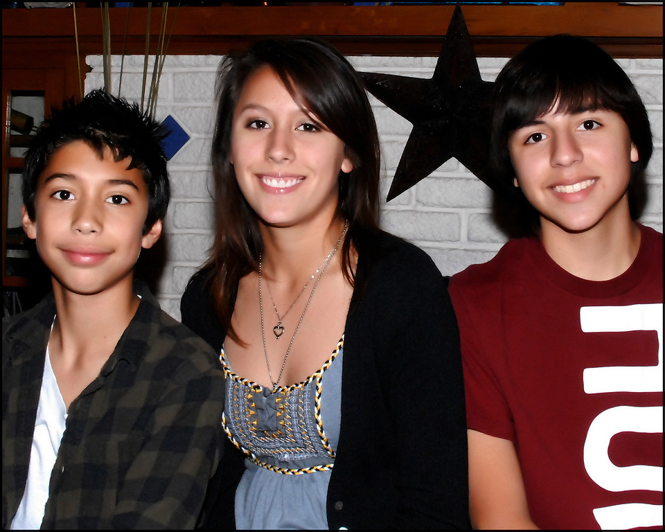 November 26th 2009, All three kids- Thanksgiving Day 09