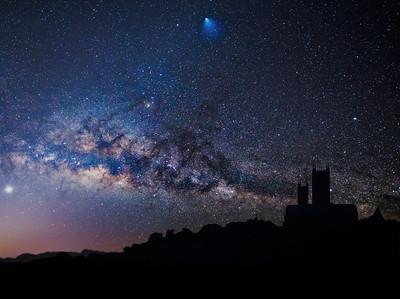Lincoln Cathedral and the Milky Way