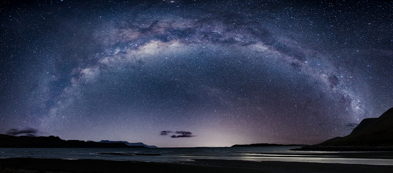 Loch Brittle on the Isle of Skye, and the Milky Way