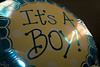 """Oh Boy!"" - A balloon from a baby shower."