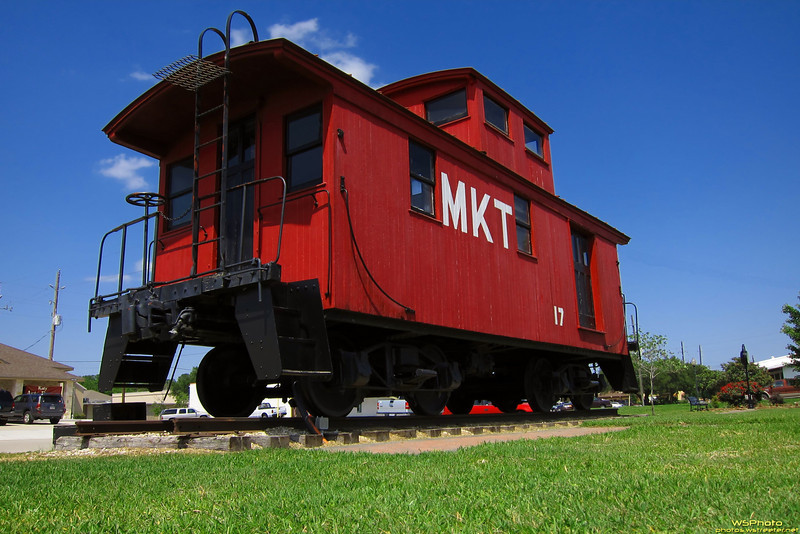 "Katy Caboose<br /> This is a MKT caboose at the Katy Railroad Park & Museum in Katy, TX. Katy is named for the Missouri-Kansas-Texas (MKT) Railroad Company, commonly referred to as the ""K-T Railroad"" (now a part of Union Pacific) that ran through Katy in the 19th century. Some also state that Katy stands for Kansas, Arkansas, Texas Yard."