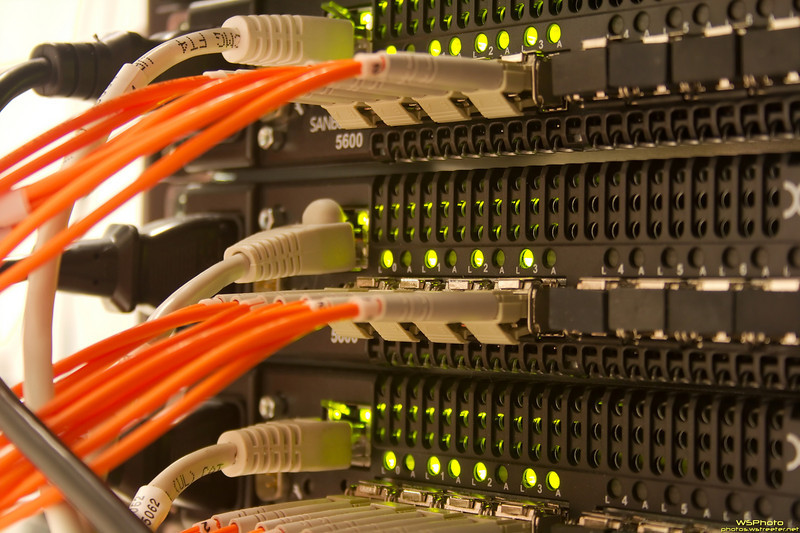 """""""High Fiber""""<br /> Fiber channel switches for one of the SANs at work."""
