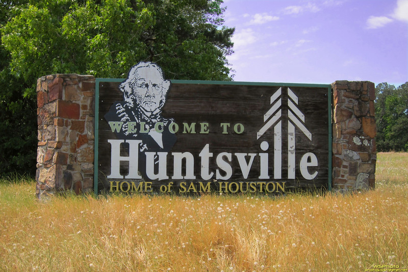 "Welcome to Hunstville<br /> The road sign at the Sam Houston Statue Visitor Center off of I-45 in Huntsville, TX.<br />  <a href=""http://www.samhoustonstatue.org"">http://www.samhoustonstatue.org</a><br />  <a href=""http://www.huntsvilletexas.com"">http://www.huntsvilletexas.com</a>"