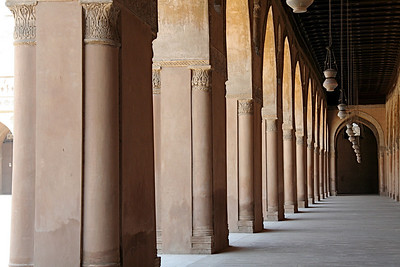 Columns and Lamps, Mosque of Ibn Tulun – Cairo, Egypt