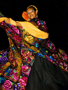 Mexican Dancer  This was a candid shot taken of a dancer in Cabo San Lucas, Mexico two years ago.  This picture has been in two exhibits on Long Island in the last two years.
