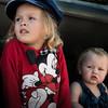 two children watching the parade at murwillumbah.