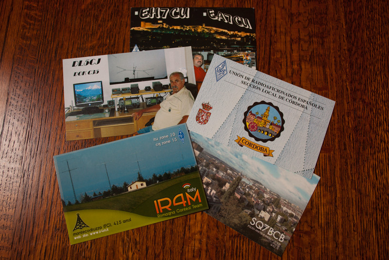 January 21, 2012 - QSL Cards from the Bureau
