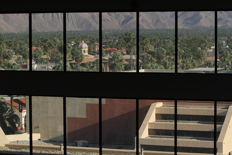 Parting window view from the 6th floor of the Hyatt Regency Palm Springs. Preliminary plans are underway for more photography adventures next year at the PSPF.