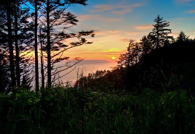 BRIGHT SUNSET-OREGON