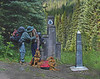15 years later, Northern Terminus, Canadian Border.  <br /> Pasayten Wilderness, WA<br /> Notice that the family has grown.