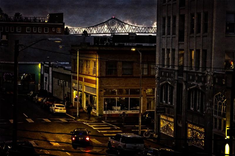 A damp winter evening in Astoria, Oregon.<br /> Photo © Carl Clark