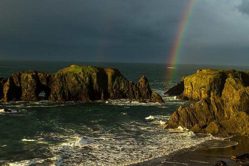 No, not Scotland - this is the Oregon coast at Bandon.<br /> Photo © Cindy Clark