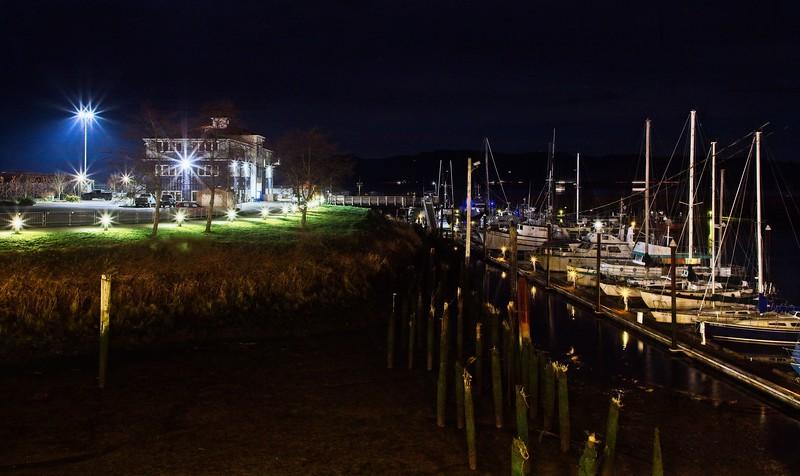 Astoria , Oregon, by night.<br /> Photo © Cindy Clark